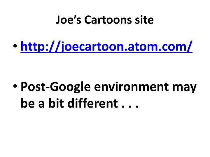 Joe's Cartoons site