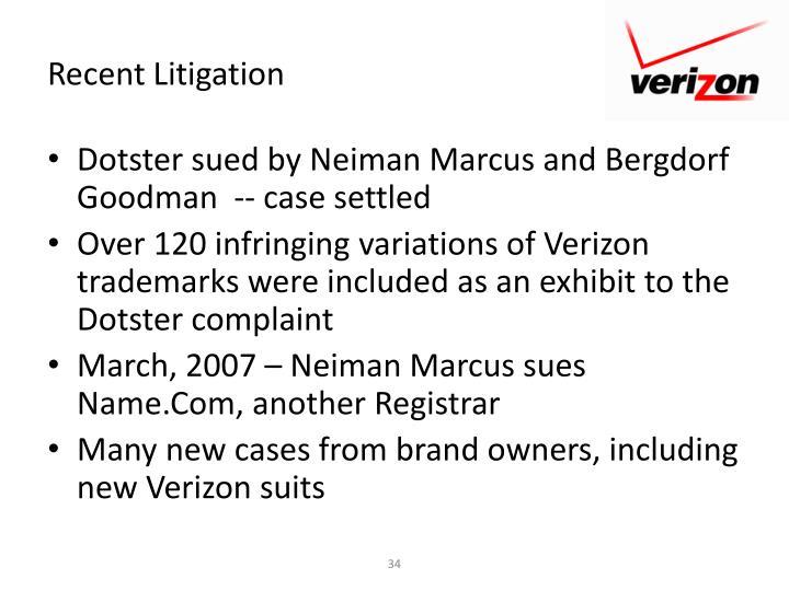Recent Litigation