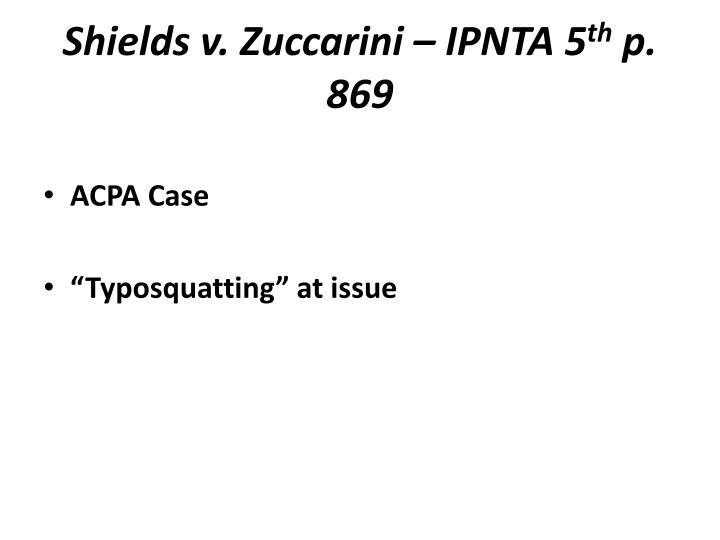 Shields v. Zuccarini – IPNTA 5