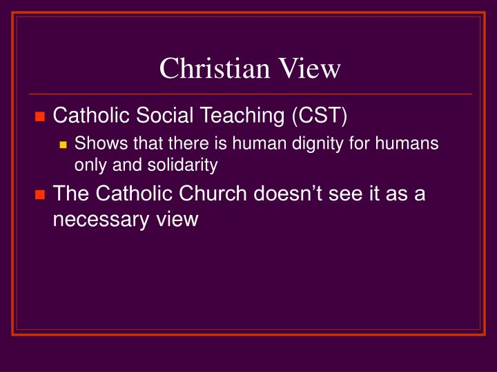 Christian View