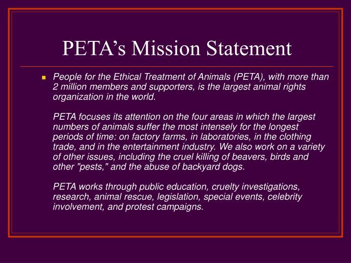 PETA's Mission Statement