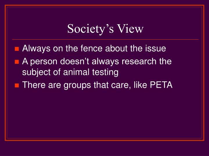 Society's View