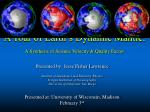 a tour of earth s dynamic mantle a synthesis of seismic velocity quality factor