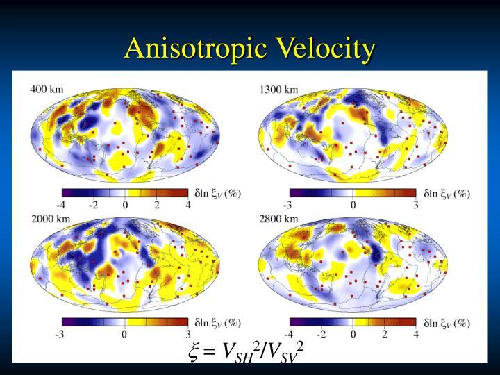Anisotropic Velocity