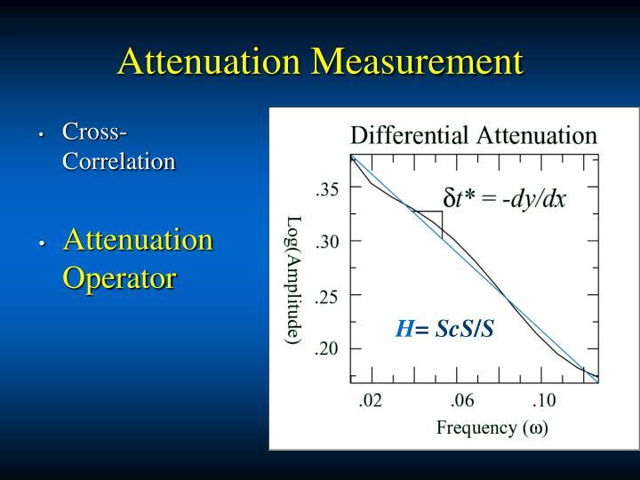Attenuation Measurement