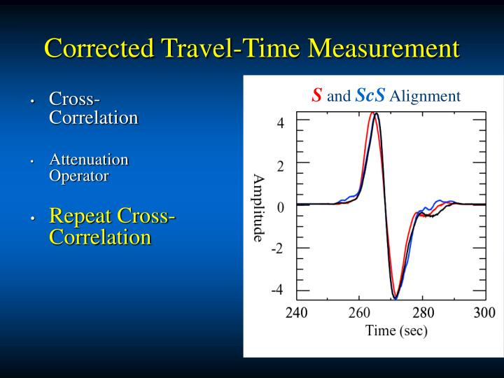 Corrected Travel-Time Measurement
