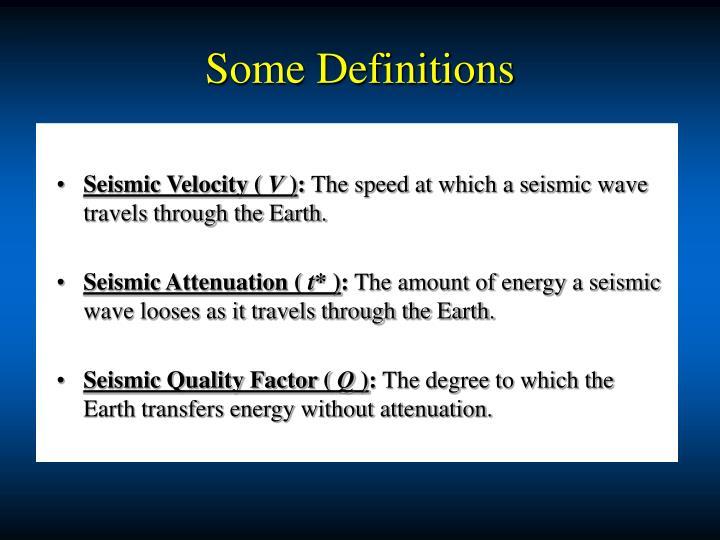 Seismic Velocity (