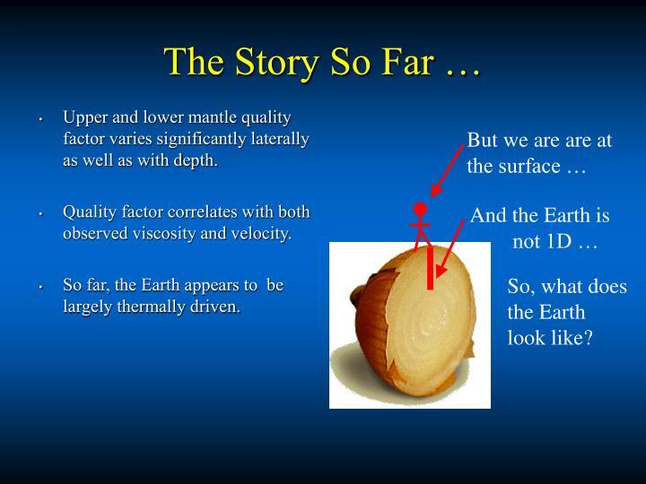The Story So Far …