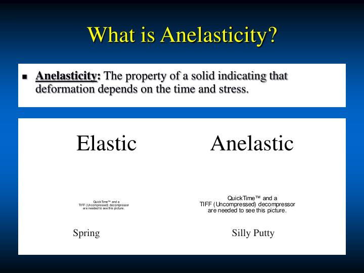 What is Anelasticity?