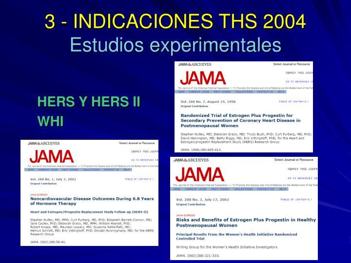 3 - INDICACIONES THS 2004