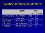 balance riesgos beneficios