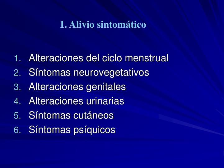 1. Alivio sintomático