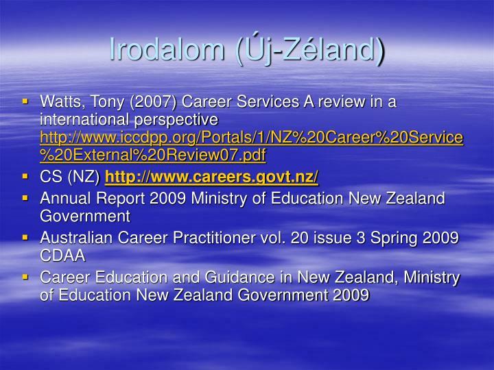 Irodalom (Új-Zéland)