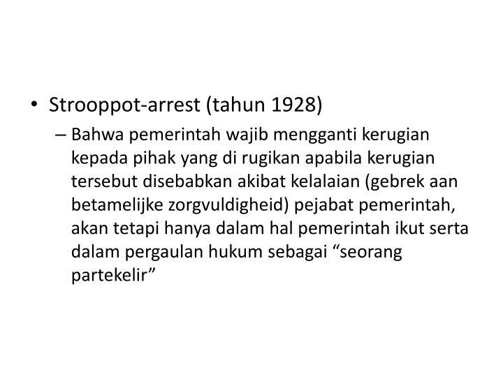 Strooppot-arrest (tahun 1928)