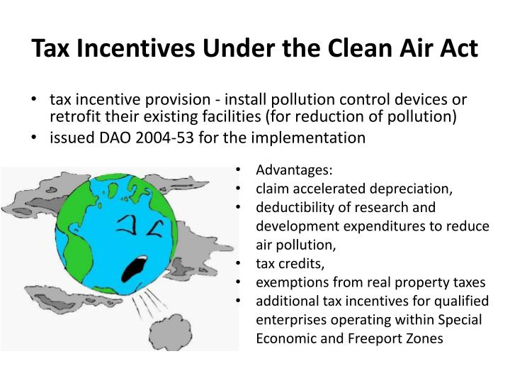 Tax Incentives Under the Clean Air