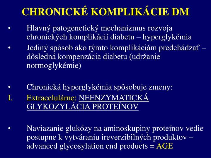 CHRONICKÉ KOMPLIKÁCIE DM