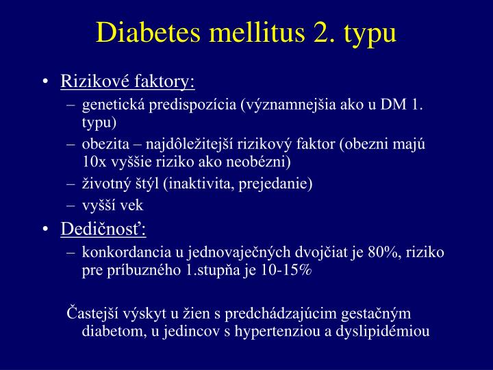 Diabetes mellitus 2. typu