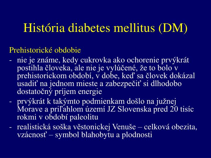 Hist ria diabetes mellitus dm