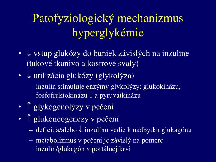 Patofyziologický mechanizmus hyperglykémie