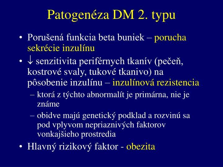 Patogenéza DM 2. typu