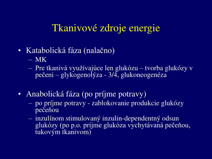 Tkanivové zdroje energie
