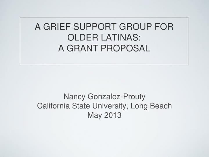 support group proposal