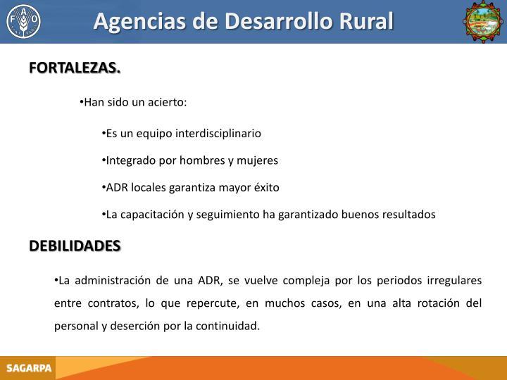 Agencias de Desarrollo Rural