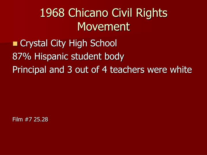 1968 Chicano Civil Rights Movement