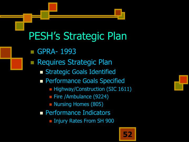PESH's Strategic Plan