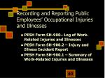 recording and reporting public employees occupational injuries and illnesses