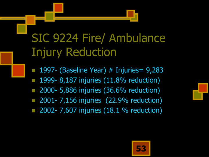 SIC 9224 Fire/ Ambulance