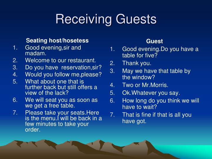 Seating host/hosetess