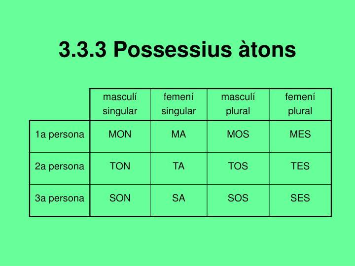 3.3.3 Possessius àtons