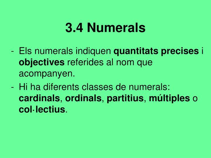 3.4 Numerals