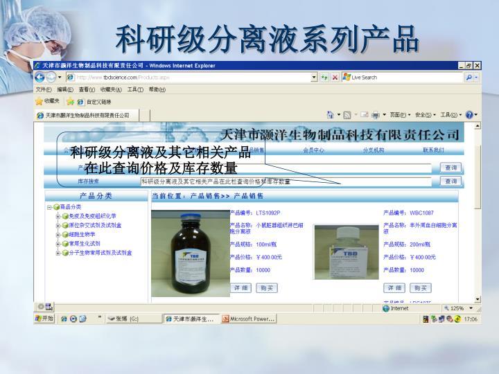 科研级分离液系列产品