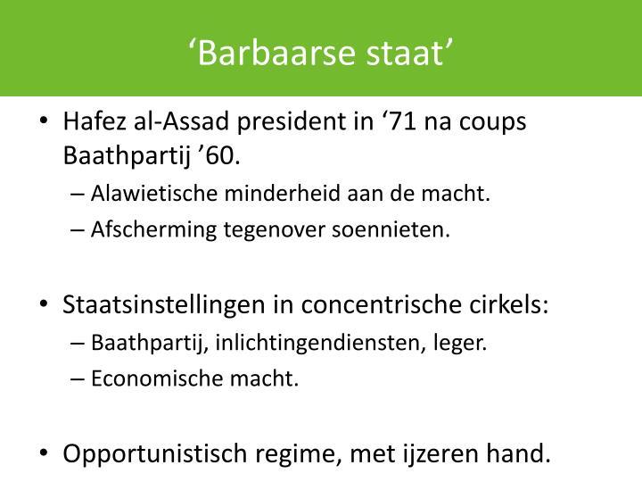 'Barbaarse staat'