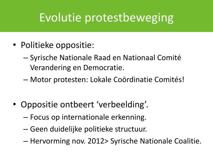 Evolutie protestbeweging