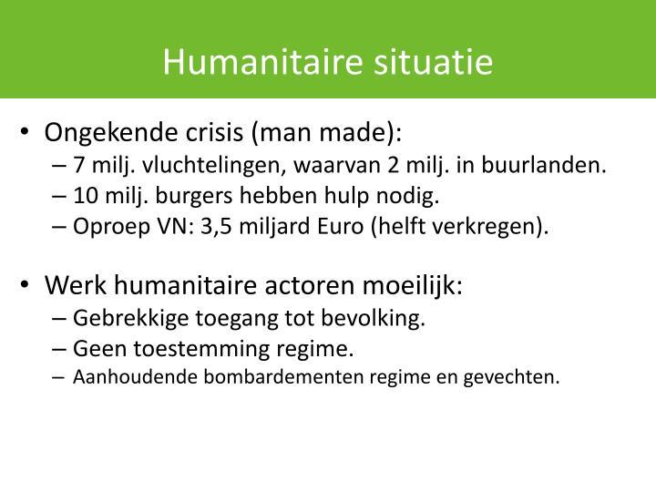 Humanitaire situatie