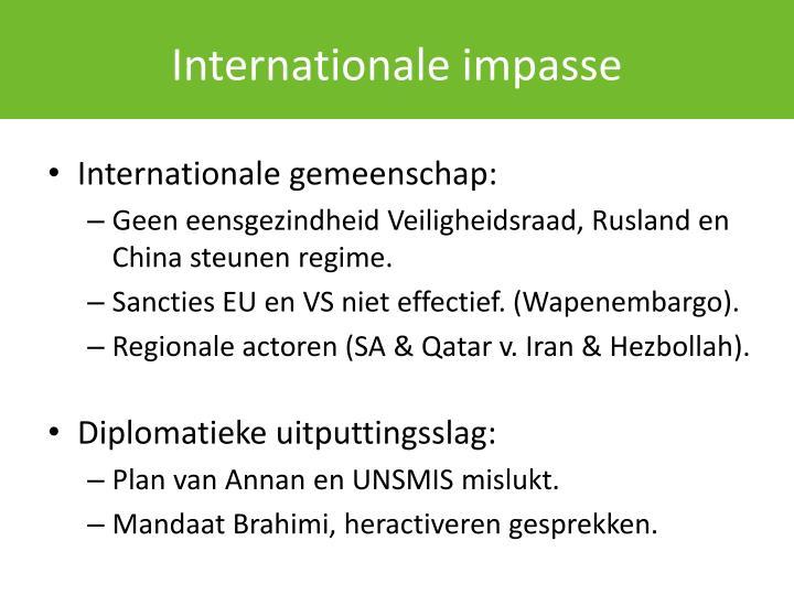 Internationale impasse
