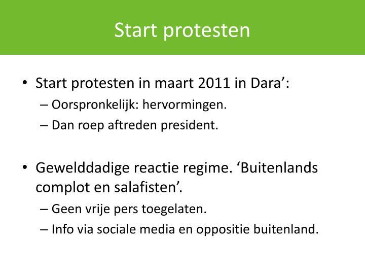 Start protesten