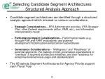 selecting candidate segment architectures structured analysis approach