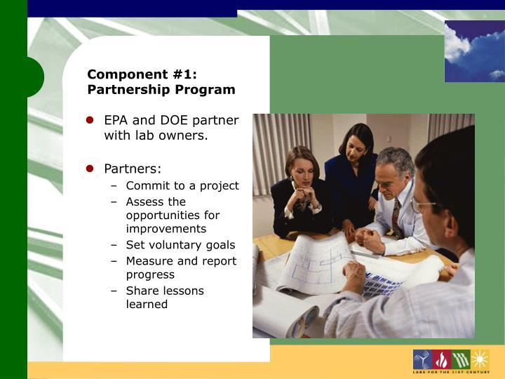 Component #1: Partnership Program