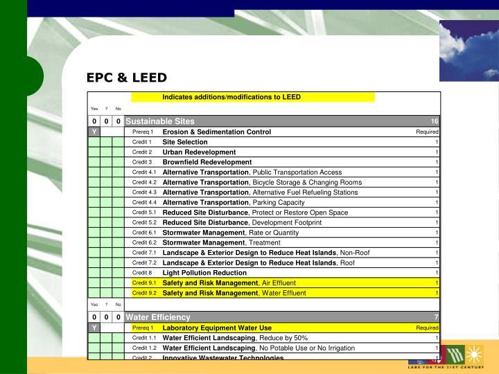 EPC & LEED