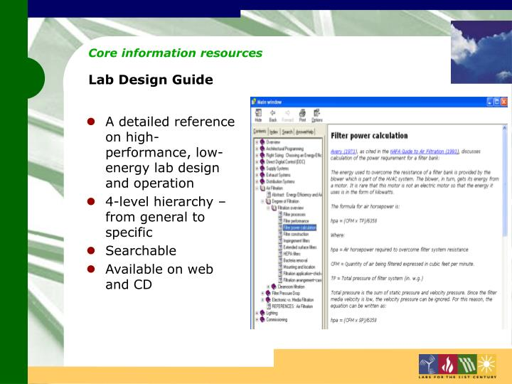 Core information resources