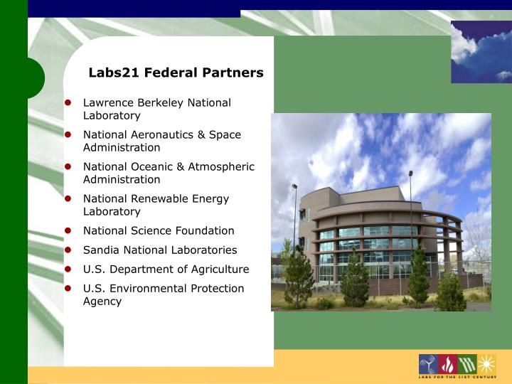 Labs21 Federal Partners