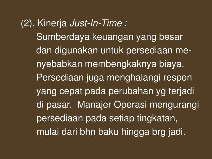 (2). Kinerja