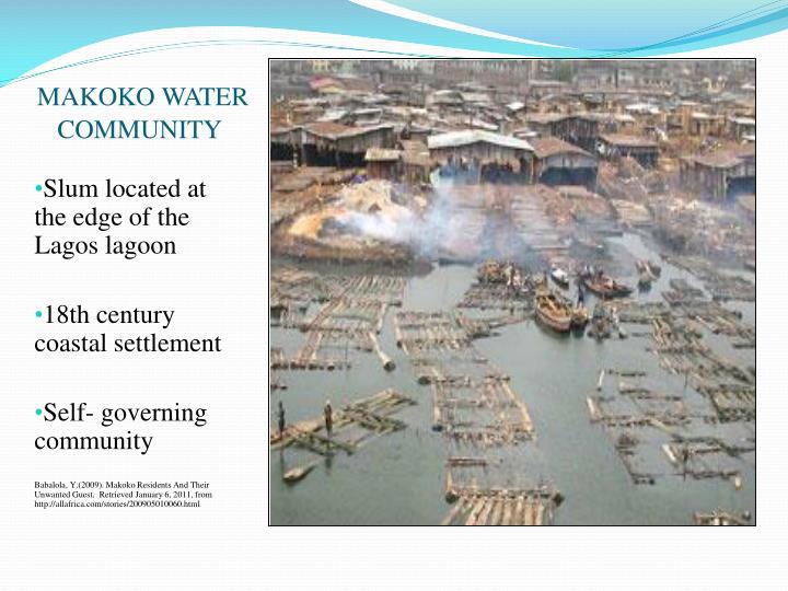 MAKOKO WATER COMMUNITY