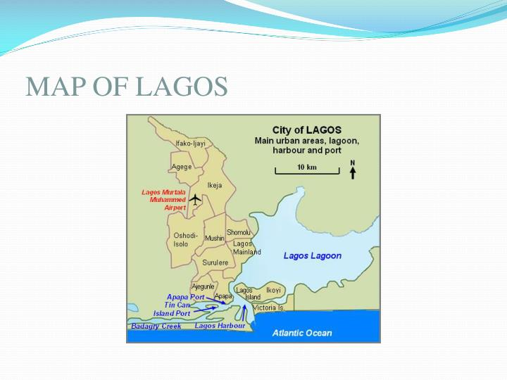 Map of lagos