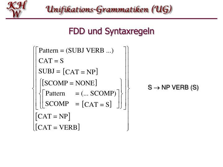 FDD und Syntaxregeln