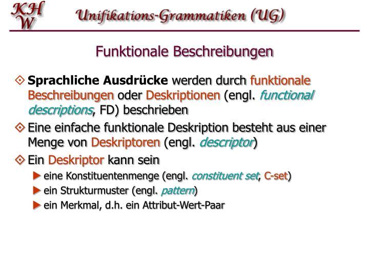 Funktionale Beschreibungen